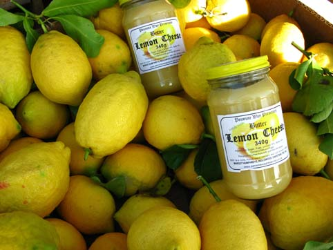 lemons and lemon curd