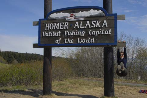 Picture of the Homer town sign Homer, Alaska