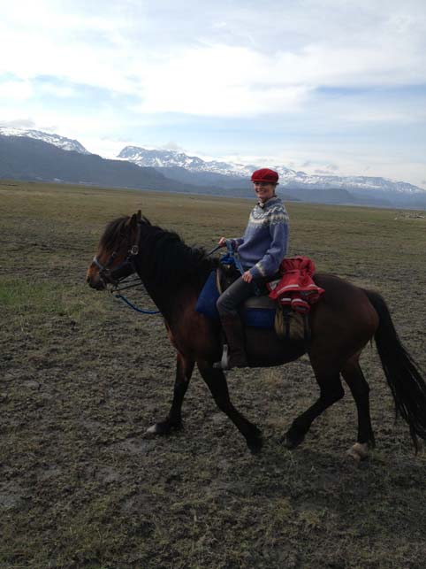 Alice horse riding in Homer Alaska