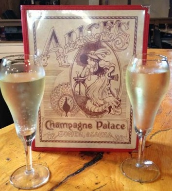 Picture of Alice's Champagne Palace Menu Homer Alaska