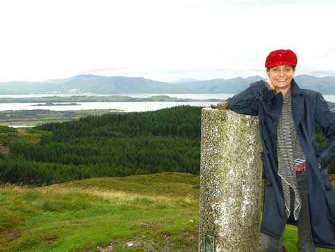 On top of Mount Beinn Lora