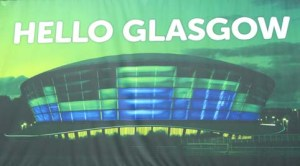 Hello Glasgow - picture of SSE Hydro, nicknamed the pie