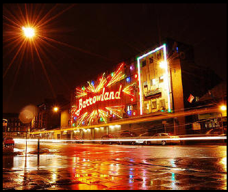 picture of Barrowland music venue Glasgow lit up