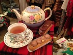 Tea and cakes at Ninon Retro boutique Paris