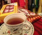 Cuppa tea and Tunnocks teacakes at Ninon Retro Boutique Paris