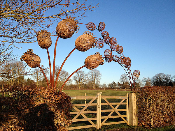 Sculpture at Wakehurst seed bank