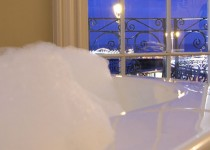Bubble bath with sea view at Drakes Hotel Brighton