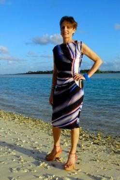 Alice & Co silk jersey dress in Stones of Scotland fabric