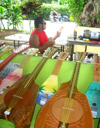 Ukeleles Rarotonga market