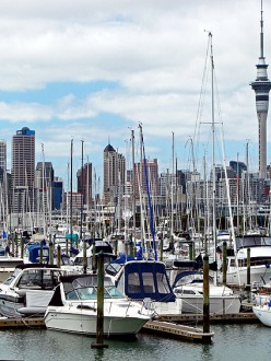 View of Downtown Auckland from the Harbour