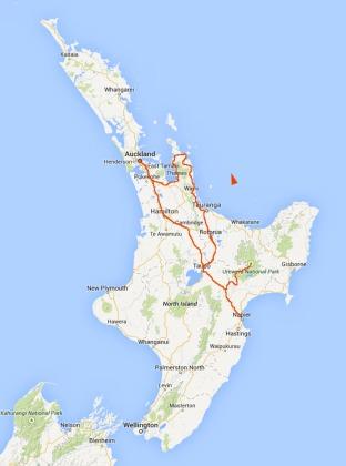 Road Map North Island New Zealand.A Road Trip Around New Zealand S North Island Where 2 Wear It