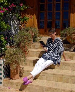 Alice reading  Palace Amani Fez