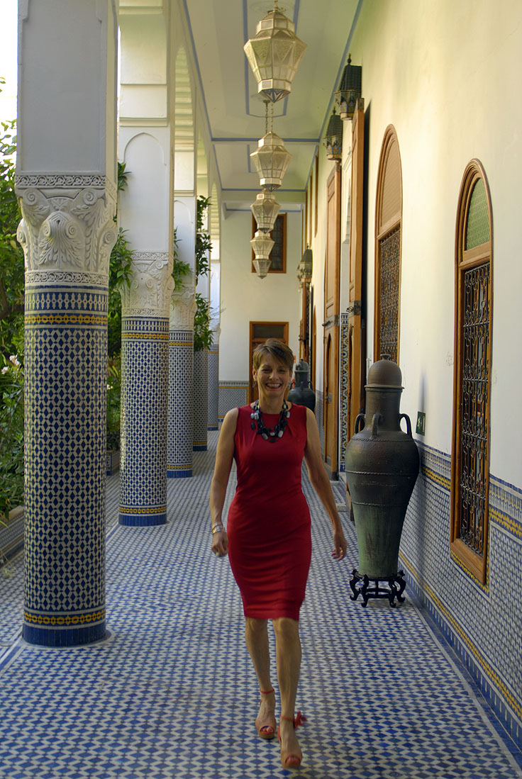 Alice & Co red dress at Hotel Palace Amani Fez