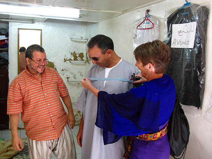 Helping the tailor Fez