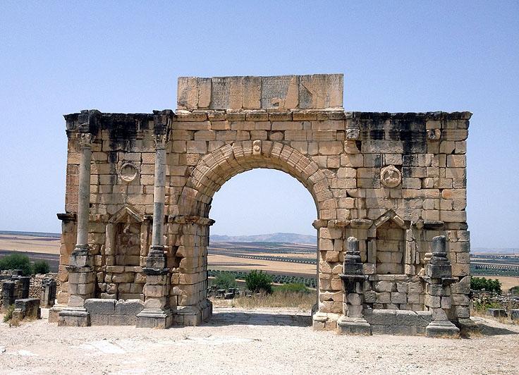 Triumpal arch at Volubilis, Fez