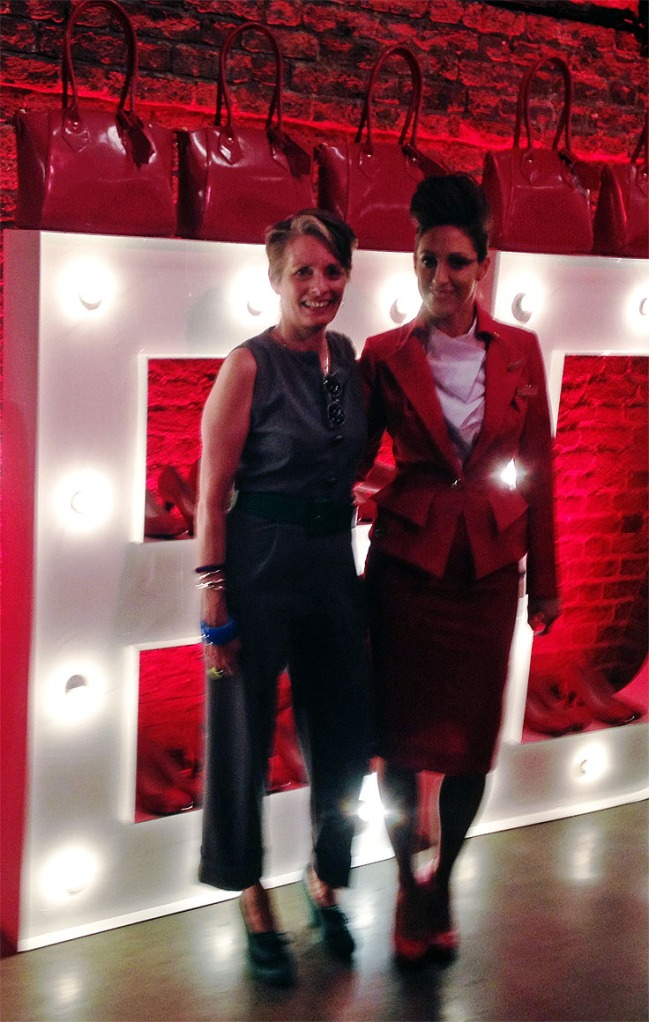 Alice and Air hostess in New Vivienne Westwood designed uniform