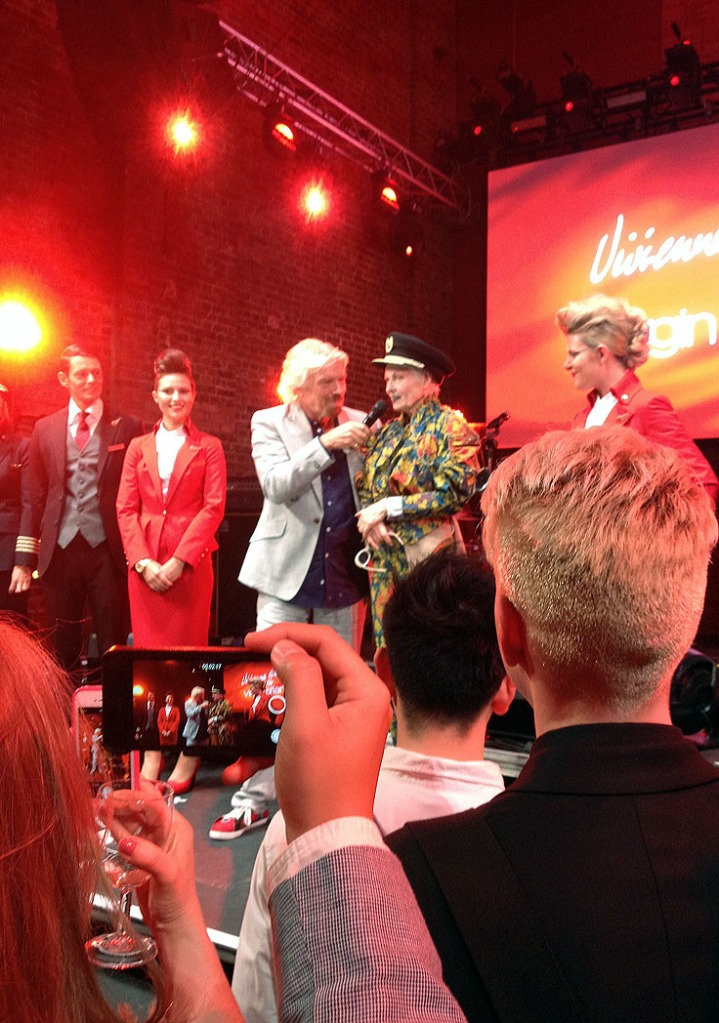 Vivienne Westwood at the launch of the new VirginAtlantic uniforms