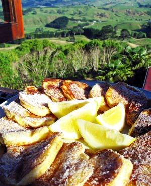 Fluffy Duck pancakes Wanama Lodge NZ
