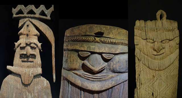 Kanak-carvings