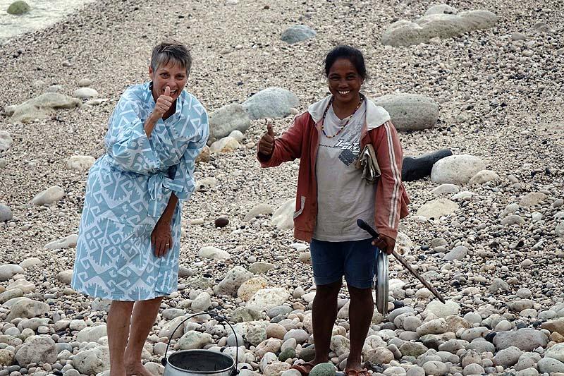 Nyla worn catch on the Indonesian Isle of Sumba