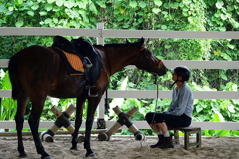 communing with Hunter at the Nihiwatu stables Sumba Indonesia