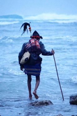 Maputu priest Indonesian Island Sumba Pasola Festival