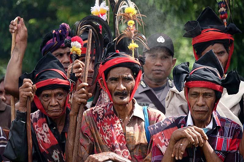 Sea worm priests Indonesian Island of Sumba