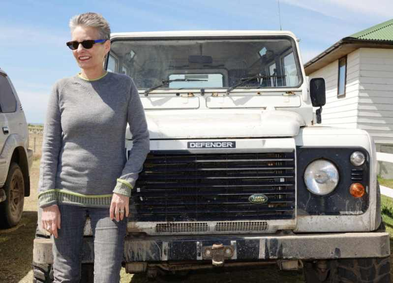 Merino wool sweater by Foxology and Defender Land Rover