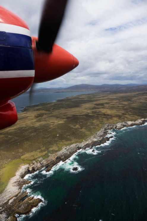 FIGAS plane Falkland Islands