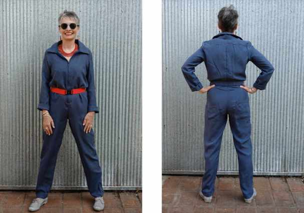 ALICE & CO PATTERNS SILK BOILER SUIT