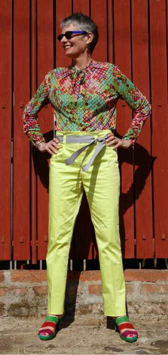 ALICE & CO PATTERNS SILK TOP AND COTTON TROUSERS VALPARISO CHILE