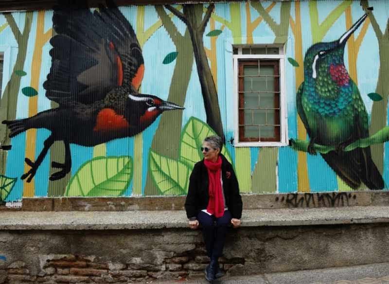 BIRD MURAL VALPARISO CHILE