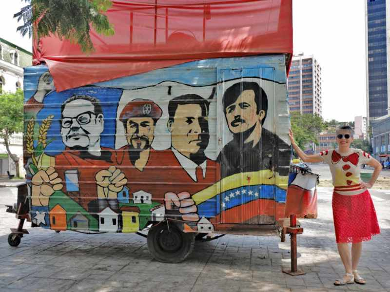 MURAL WITH POLITICAL HEROS VALPARISO CHILE